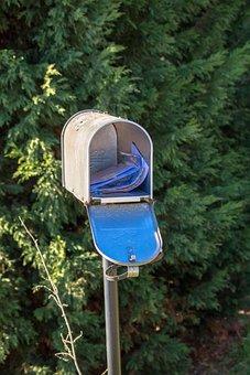 Mailbox, Post, Metal, Mailboxes, Mail, Newspaper