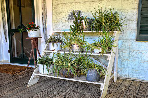 Vintage Front Porch, Southern, Porch, Old, House