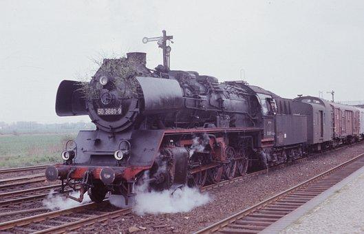 Steam Locomotive, Reichsbahn, Br 50, Train, Nostalgic