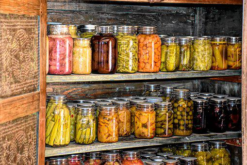 Root Cellar, Canned Goods, Settlers, Early America
