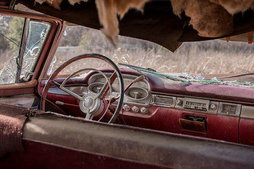 Oldtimer, Old, Auto, Rust, Antique, Rusted, Decay, Red