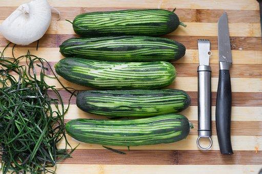 Cucumbers, Green, Vegan, Cucumber, Food, Cool, Salad