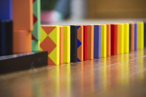 Dominoes, Domino, Colorful, Patterns, Sequence, Setup