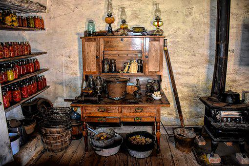 Pioneer Kitchen, Settlers, Early America, Building, Usa