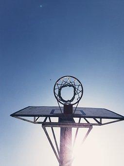 Basketball Net, Sun, Ba, Summer, Outdoor, Sport, Sky