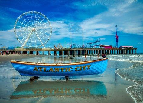 Atlantic City, New Jersey, America, Tourism, Boat