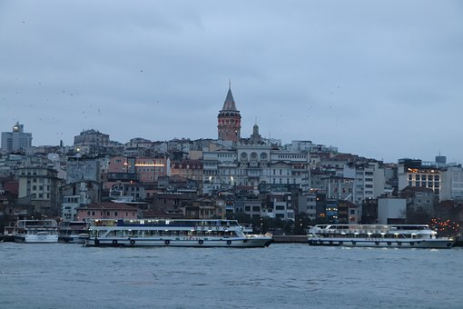 Galata, Istanbul, Eminönü, On, City, Islam, Turkey