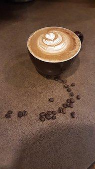Latte, Coffee, Latte Art, Beverage, Art, Brown, White