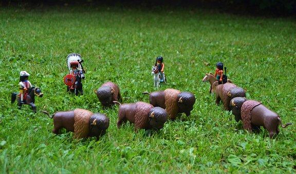 Playmobil, Western, Usa, America, Buffalo, Indians