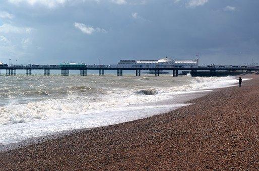 Brighton, Pier, Amusement, Seaside, Victorian, Sea
