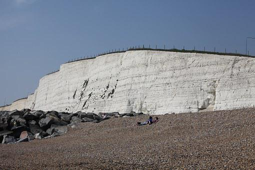 Brighton, The Cliffs, Cliff, Sea, The Coast, Beach