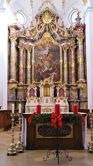 Monastery, Scheyern, Benedictine, Religion, Altar