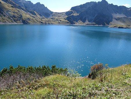 Bergsee, Mountains, Landscape, Austria, Nature, Lake