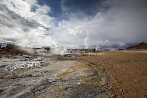 Namaskard Sulphur Pits, Iceland, Boiling Mud, Myvatn