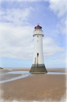 Lighthouse, Ocean, Oceans, Perch, Rock, New, Brighton