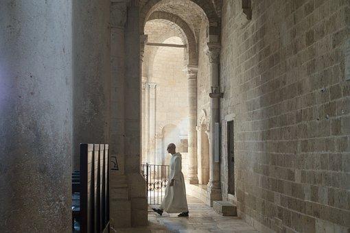 Abbey, Monastery, Church, Romanesque, Pillar, Tuscany