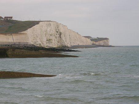 Cliff, Beach, Brighton, Uk, Landscape, Sea, Coast
