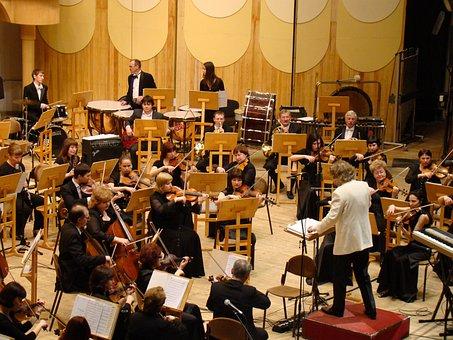 Symphony Orchestra, Concert, Philharmonic Hall, Music