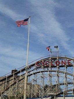 Coney Island, Brighton Beach, Cyclone, America