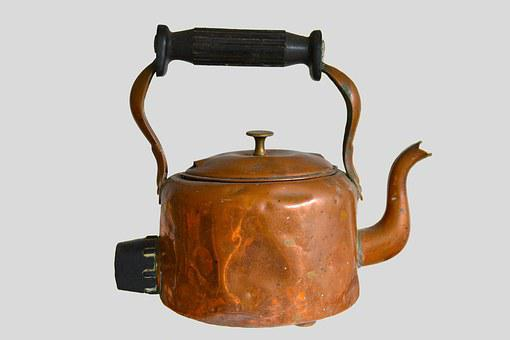 Copper Kettle, Kettle, Copper, Metal, Old, Kitchen, Tea