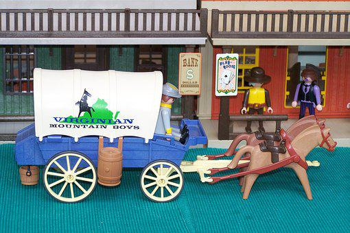 Playmobil, Western, Usa, Covered Wagon, Southern States