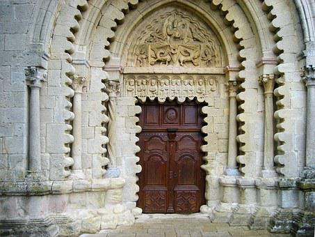 Ganagobie Abbey, Portal, Entrance, Benedictine