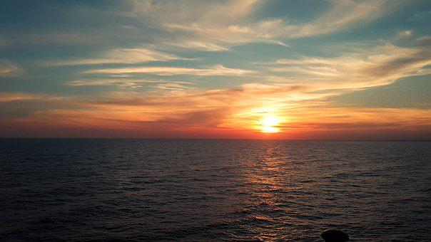 Sunset, Brighton, Pier, Sun, Evening, Uk, England