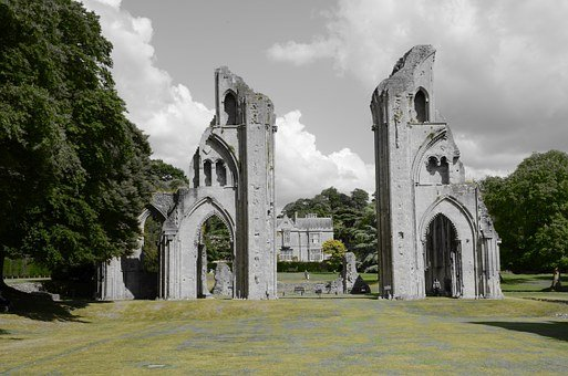 Glastonbury, Ruin, Cathedral, King Arthur, Henry Viii