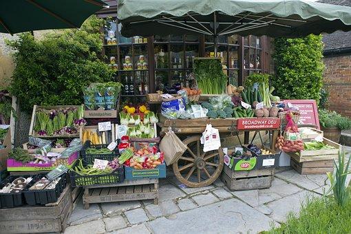Greengrocer's Handcart, Vegetable Display