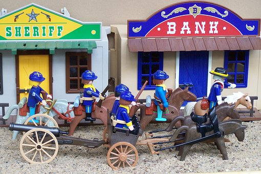 Playmobil, Western, Usa, Coach, Gun, Union Army Toy