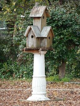 Wooden, Birdhouse, Wood, House, Bird, Box, Nest