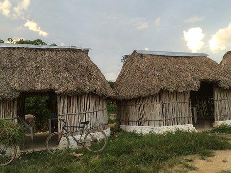 Hut, Maya, Merida, Truc, Adventure, Cenote, Blue