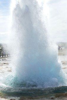 Geyser, Iceland, Fountain, Landscape, Water, Nature