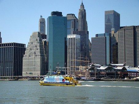 New, York, Manhattan, Building, Skyline, Architecture