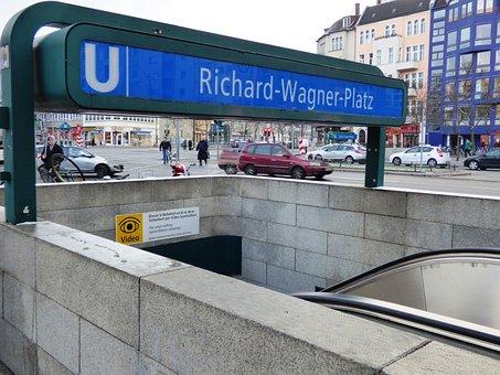 Metro, Berlin, Entrance, The Subway, Metro Station