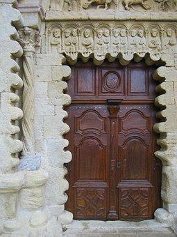 Portal, Ganagobie Abbey, Benedictine, Monastery