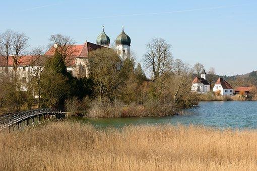 Monastery, Seeon, Upper Bavaria, Monastery Seeon, Lake