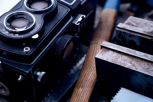 Camera, Old, Analog, Photographer, Photo, Photography