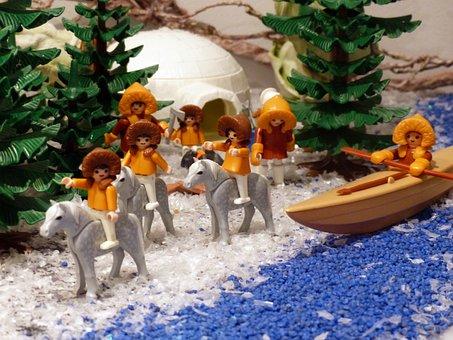 Playmobil, Exhibition, Toys, Figures, Horse, Eskimo