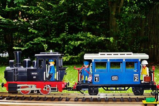 Playmobil, Railway, Steam Locomotive, Passenger Cars