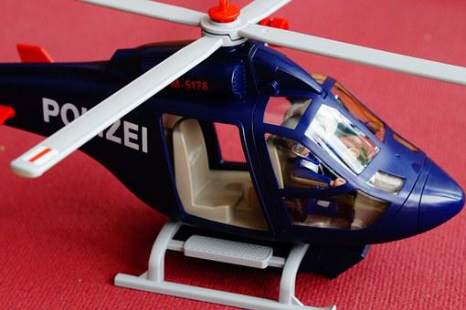 Police, Helicopter, Police Helicopter, Playmobil, Toys