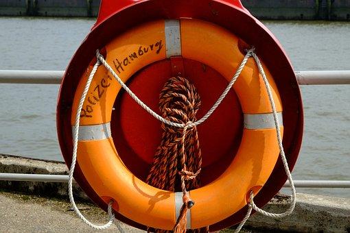 Lifebelt, Port, Colorful, Woven, Railing, Dew