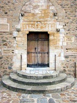 Saint-génis-des-fontaines, Portal, Architrave, Abbey