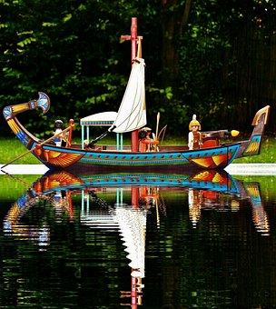 Playmobil, Nile, Ship, Egypt, River, Toys, Children