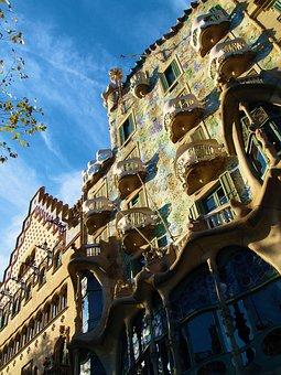 Barcelona, Gaudi, Spain, Catalonia, Modernism