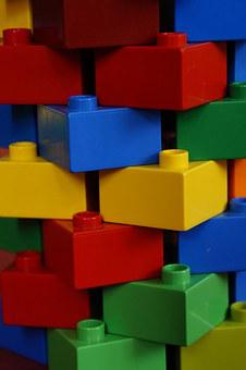 Tower, Stone Wall, Lego Blocks, Colorful, Child