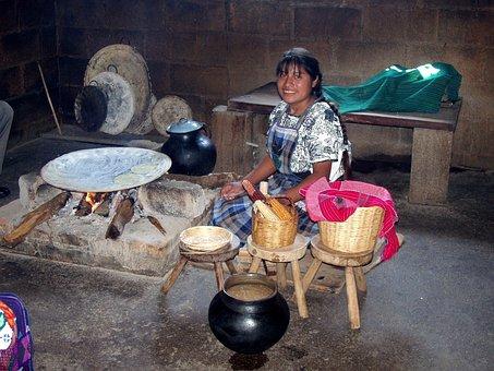 Tzotzil Maya, Chiapas Highlands, Mexico, Cooking, Stove