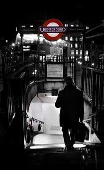 London, Underground, Metro, Tube, Subway, Man, Shade