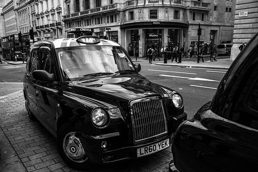 Cab, Oldtimer, Taxi, Car, City, London, England