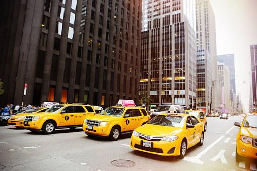 Taxicabs, New York, Taxis, Cabs, Yellow, Vehicle